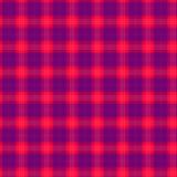 Ткань в тартане картины красного и голубого волокна безшовном EPS10 Стоковая Фотография RF