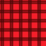 Ткань в тартане картины красного и черного волокна безшовном EPS10 Стоковые Изображения RF