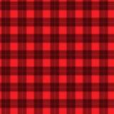 Ткань в тартане картины красного и черного волокна безшовном EPS10 Стоковое фото RF
