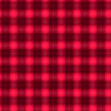 Ткань в тартане картины красного и черного волокна безшовном EPS10 Стоковые Фото