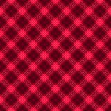 Ткань в тартане картины красного и черного волокна безшовном EPS10 Стоковое Изображение RF