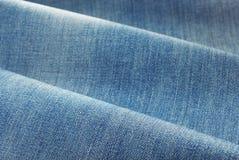 Ткань джинсовой ткани голубых джинсов Стоковые Изображения RF