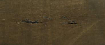 Ткань желтого коричневого цвета текстуры Skanirovaniya грубая сорванная брезент Стоковое Фото