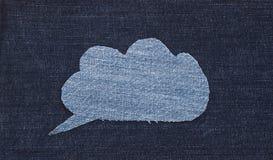 Ткань джинсов пузыря речи Стоковые Фотографии RF