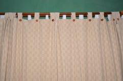 Ткань занавеса в спальне Стоковое фото RF
