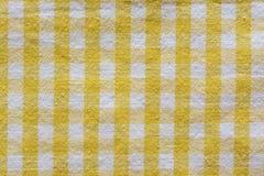 Ткань золота checkered Стоковые Изображения