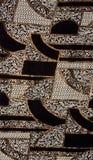 ткань картины черного золота Стоковые Изображения RF