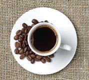 ткань кофейной чашки предпосылки Стоковое Фото