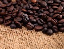 ткань кофе мешковины фасолей Стоковая Фотография
