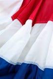 Ткань красного, белого, и голубого знамени заполняет рамку вертикально Стоковые Изображения