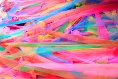Ткань крупного плана красочная в тайских обоях виска Стоковое фото RF