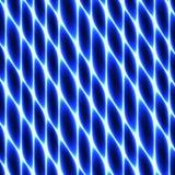 Ткань клетки, плетение, сот, абстрактный голубой неон ограждая предпосылку иллюстрация вектора