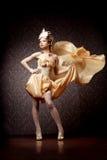 ткань летая роскошная женщина типа Стоковое фото RF