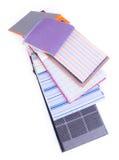 Ткань образцы ткани на предпосылке Стоковое фото RF