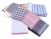 Ткань образцы ткани на предпосылке Стоковое Фото