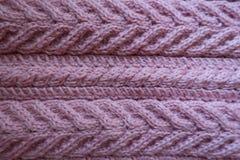 Ткань пастельного пинка связанная с картиной pleats стоковое фото rf