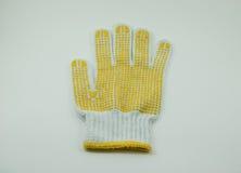 Ткань перчаток одно На белой предпосылке Стоковая Фотография
