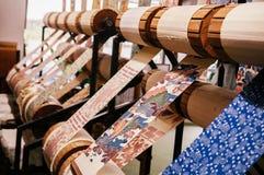 Ткань печатания коралла Окинавы, handmade scarft стоковые изображения
