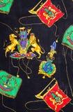 Ткань печати льва Стоковая Фотография