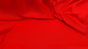 ткань покрыла витрину постамента красную Стоковое фото RF