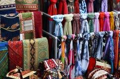 Ткань половика от Турции в базаре Стоковое Фото