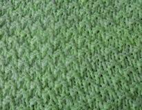 Ткань Рук-связанная зеленым цветом Стоковое Изображение