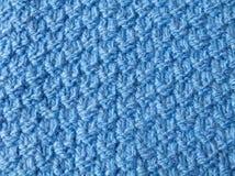 Ткань Рук-связанная синью Стоковое Фото