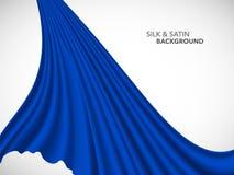 Ткань сатинировки абстрактной волны вектора silk для ceremon торжественного открытия иллюстрация вектора