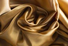 Ткань сатинировки золота Стоковые Фотографии RF