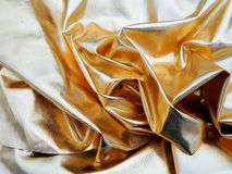 Ткань сатинировки золота Стоковая Фотография