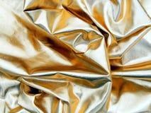 Ткань сатинировки золота Стоковая Фотография RF