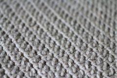 Ткань, связанная от пряжи, селективный фокус стоковая фотография