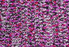 Ткань связанная текстурой шерстяная Стоковая Фотография RF