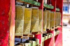 Ткань Священного Писания в дизайне Тибета ротатабельном Стоковое фото RF