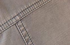 Ткань серого цвета шва. Стоковые Изображения RF