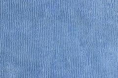 Ткань сини Microfiber Увиденный от близко Стоковое Изображение