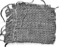 Ткань соломы изолированная на белом знамени Стоковое Фото