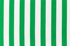Ткань с белыми и зелеными нашивками Стоковая Фотография RF