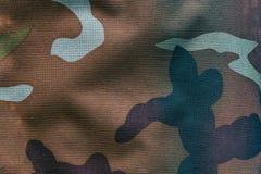 Ткань с воинской расцветкой для предпосылки Хаки, камуфлирование Стоковые Фото