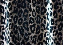 Ткань с картиной кожи леопарда Стоковые Изображения RF