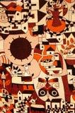 Ткань с культурными конструкциями Стоковая Фотография RF