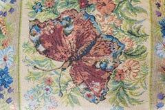 Ткань с текстурой предпосылки изображения бабочки Стоковое Изображение