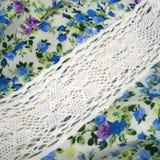 ткань с точной флористической печатью Стоковое Изображение