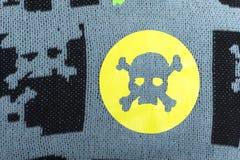 Ткань с черепами Стоковое Изображение RF