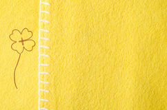 Ткань с shamrock Стоковое фото RF