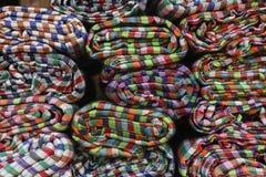 Ткань тайского стиля handmade в рынке Стоковая Фотография RF