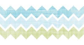 Ткань текстурировала предпосылку картины нашивок шеврона горизонтальную безшовную Стоковое Изображение