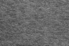 Ткань текстуры мягкая ворсистая черного цвета Стоковая Фотография RF