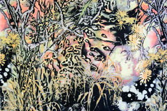 Ткань текстуры тропических лесов Стоковая Фотография