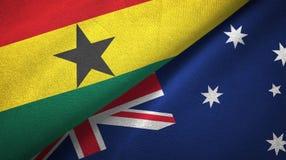 Ткань ткани флагов Ганы и Австралии 2, текстура ткани иллюстрация вектора